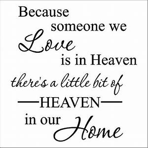 wallsayingsvinyllettering on artfirecom With because someone we love is in heaven vinyl lettering