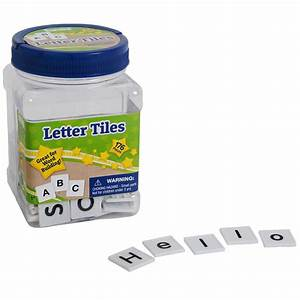 tub of letter tiles educational products eureka school With letter tiles