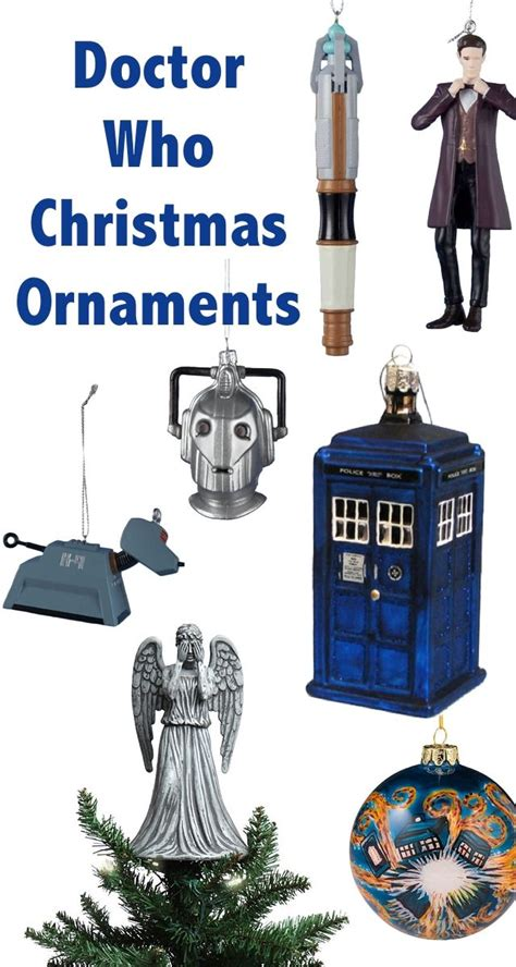 whovian christmas doctor who christmas ornaments