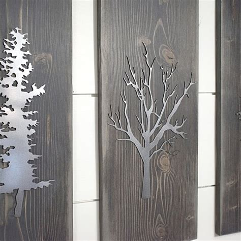 Check out our wall sculpture decor selection for the very best in unique or custom, handmade pieces from our wall hangings shops. Buy Tree Plaque, Set of 3, Metal wall Art, Rustic Home Decor, Family Rood Wall Decor by ...