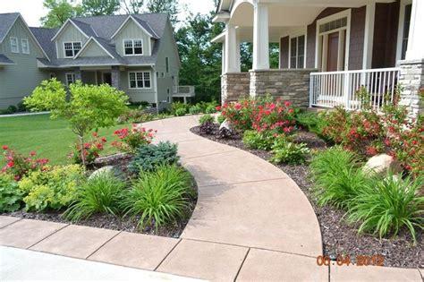 plants  front   border   sidewalk