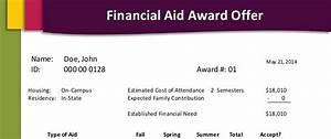 letter of recommendation military financial aid award letters start school now