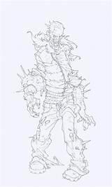 Character Concept Creature Zombies Bocetos Guiton Edouard Dibujos Edouardguiton Guardado Desde Drawings Zombie Coloring sketch template