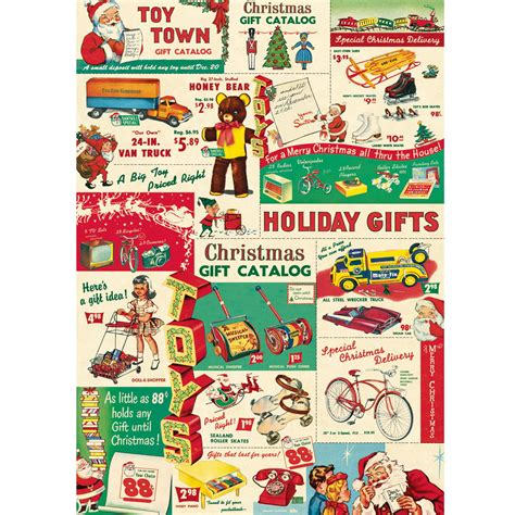 christmas ideas catalogues catalog vintage toys ephemera wrapping paper gift wrap