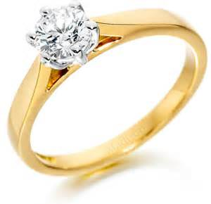single engagement rings yellow gold six claw engagement ring single rings