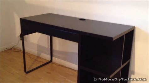 ikea micke desk with integrated storage youtube