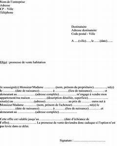 Documents Pour Compromis De Vente : mod le type lettre promesse de vente bien immobilier maison ou appartement ~ Gottalentnigeria.com Avis de Voitures