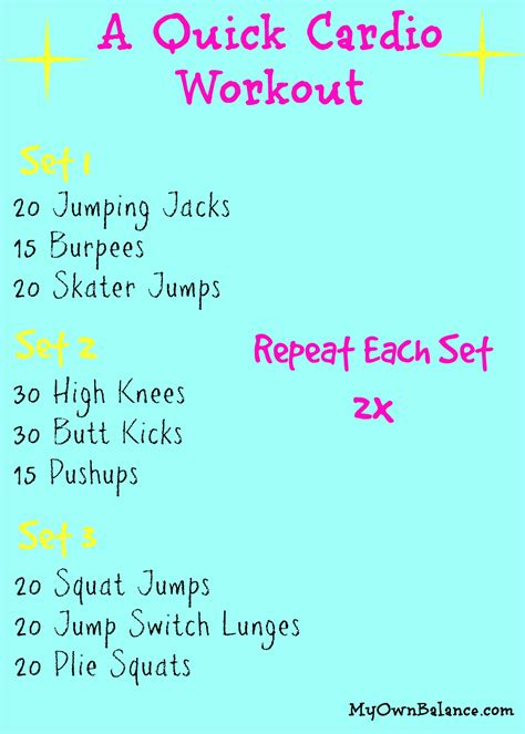 Bedroom Cardio Workout by Balance Barre Fitness A Cardio Workout A Giveaway