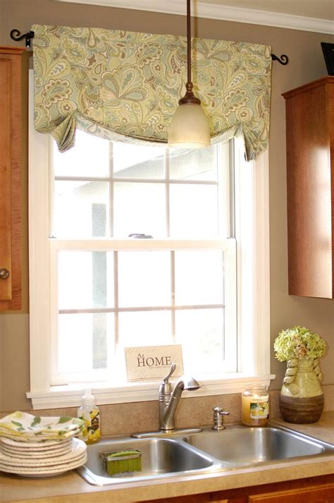 Kitchen Valance by How To Make The Easiest Curtains Living Rich On Less