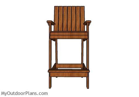 Adirondack Bar Chair Woodworking Plans by Bar Height Adirondack Chair Plans Myoutdoorplans Free