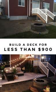 deck makeover  hanging bench  privacy curtains