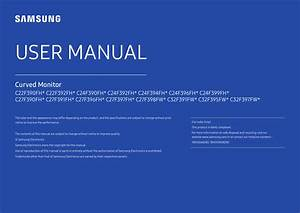 Samsung C27f391fhm User Guide