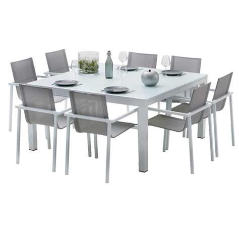 table chaises de jardin ensemble table et chaises de jardin extensibles carre