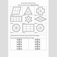 Equivalent Fractions Of Shapes By Helenfharvey  Teaching Resources