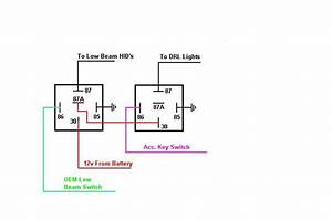 Relay Schematic For Operating Lights