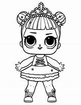 Lol Coloring Doll Stage Printable Dolls sketch template