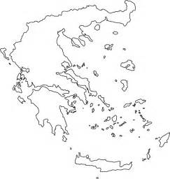 Greece Map Outline