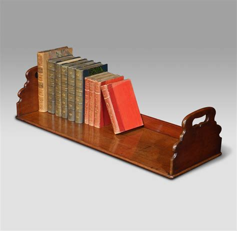 Wall Corner Stand by Antique Book Trough Wooden Book Rack Georgian Book Stand