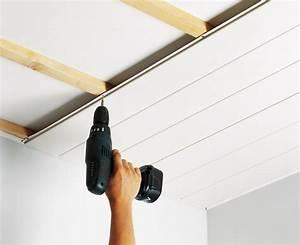 Pose De Lambris Bois : pose lambris pvc plafond salle de bain travaux et ~ Premium-room.com Idées de Décoration