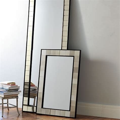antique tiled wall mirror west elm