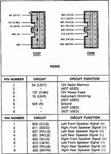 Dash Harness Diagram  Installing Radio With Out Amp