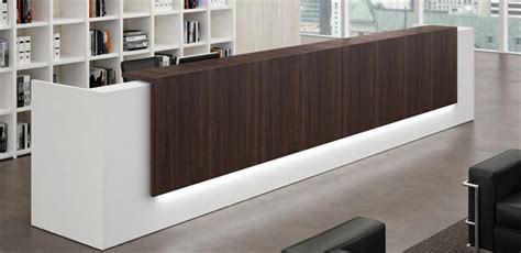 lada led scrivania modern office reception counter desk design for hotel
