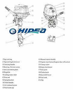 4 Stroke Stroke Boat Motor Hidea 5hp