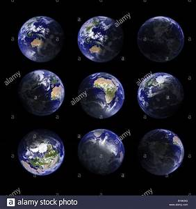Earth planet, ultrahigh resolution, real topography ...