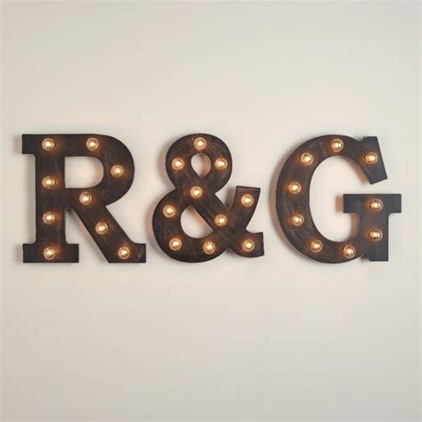 Letter Marquee Light Collection   World Market