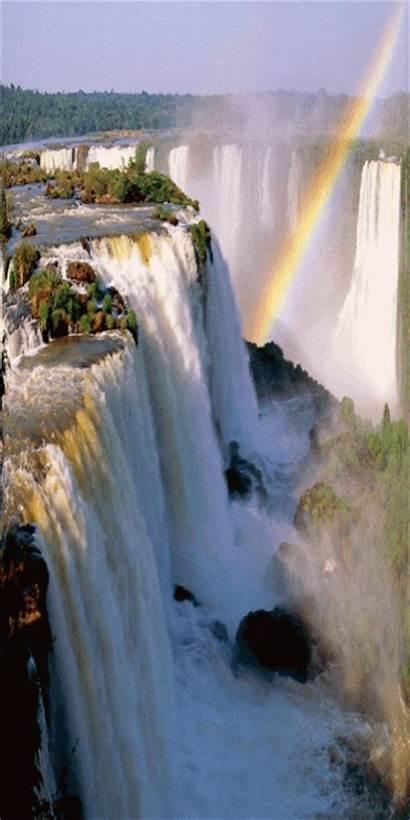 Waterfall Animated Gifs Cascada Animation Colorful Waterfalls