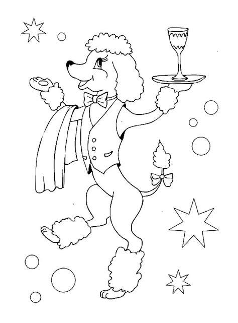 poodle coloring pages    print