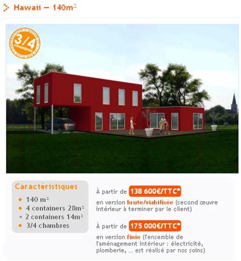 plan de maison moderne plain pied 4 chambres maison container la maison design à prix discount