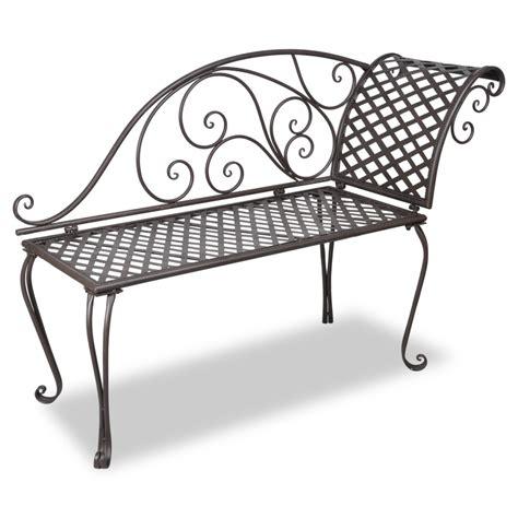 vidaxl co uk vidaxl metal garden chaise lounge antique