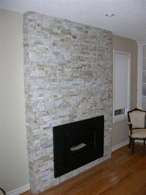 Refacing A Fireplace With Stone Veneer by Stone Veneer Fireplace
