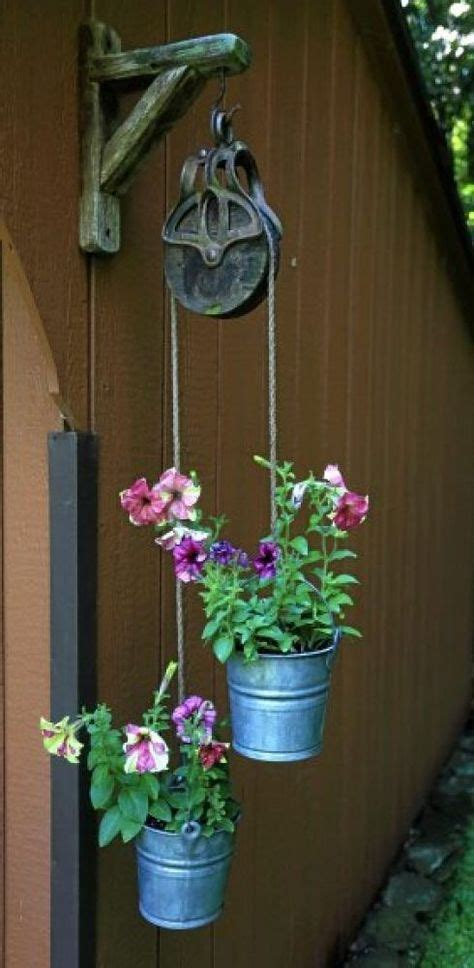 Small Pulley With Buckets Flowers Google Search