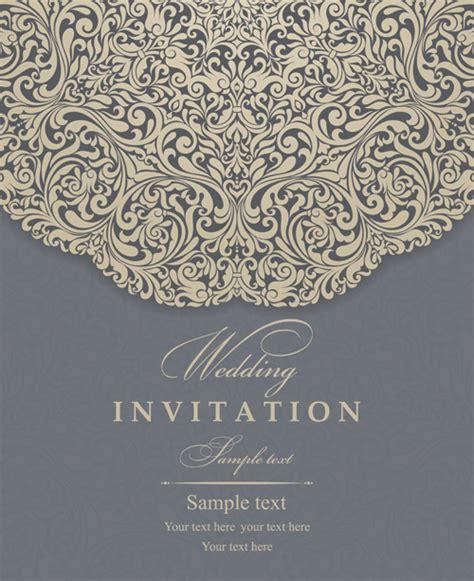 Elegant Invitations vintage style design vector 01 GooLoc