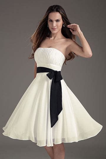 robe bustier blanche courte mariage robe blanche pour mariage courte bustier droit ceintur 233 e