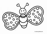 Butterfly Cute Pages Clipart Drawing Line Coloring Butterflies Printable Colouring Clip Library sketch template
