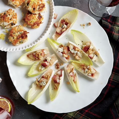 Endive Boats by Endive Boats With Pears Blue Cheese Walnuts Recipe