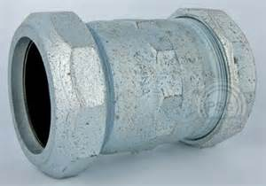 galvanized compression fittings aka dresser fittings