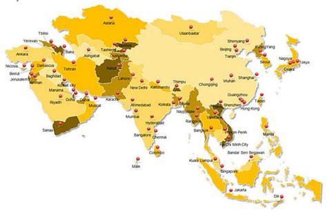 benua asia ciri ciri peta karakteristik gambar