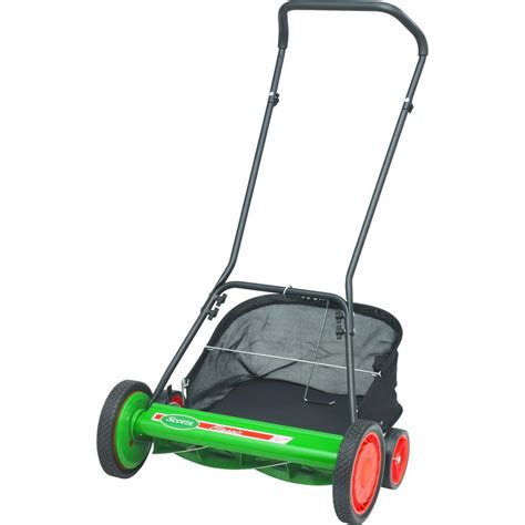 depot mowers scotts 20 in manual walk reel mower with grass Home