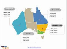 Free Australia Editable Map Free PowerPoint Templates
