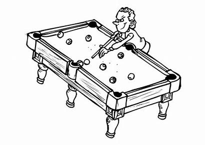 Pool Coloring Pages Swimming Clipart Sporten Table