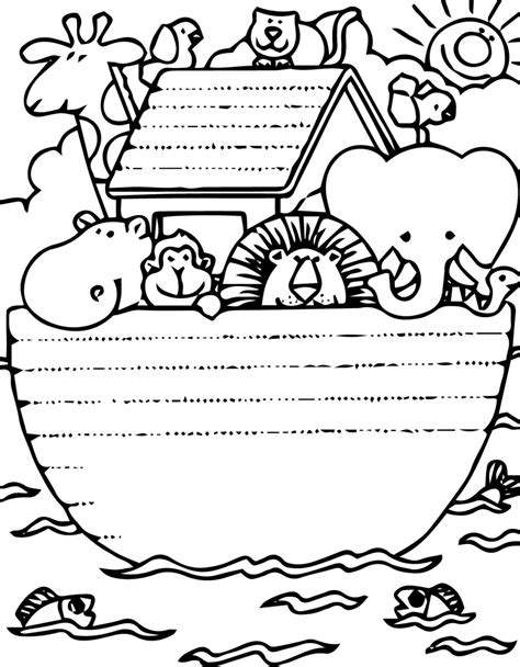 noahs ark printable coloring pages printable  coloring pages part