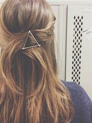 Triangle Bobby Pin Hairstyle