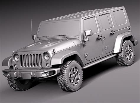 jeep wrangler rubicon   model max obj ds fbx