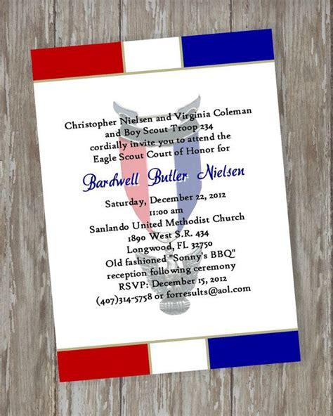 eagle scout court  honor invitations prepared white