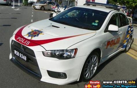pdrm police car kereta polis malaysia mitsubishi evo