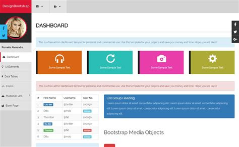 Bootstrap Admin Templates Free Bootstrap Admin Template